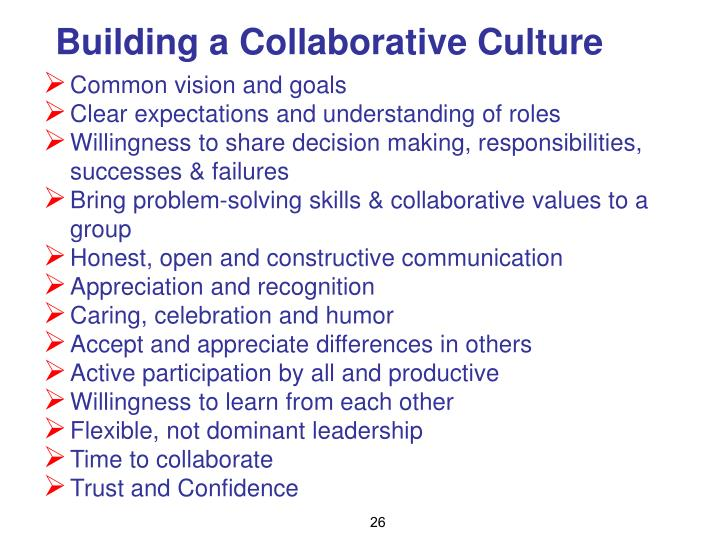 Building a Collaborative Culture