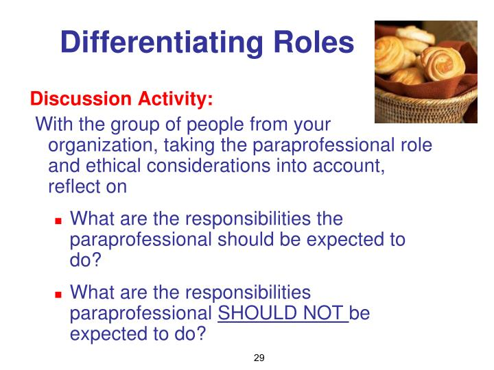 Differentiating Roles