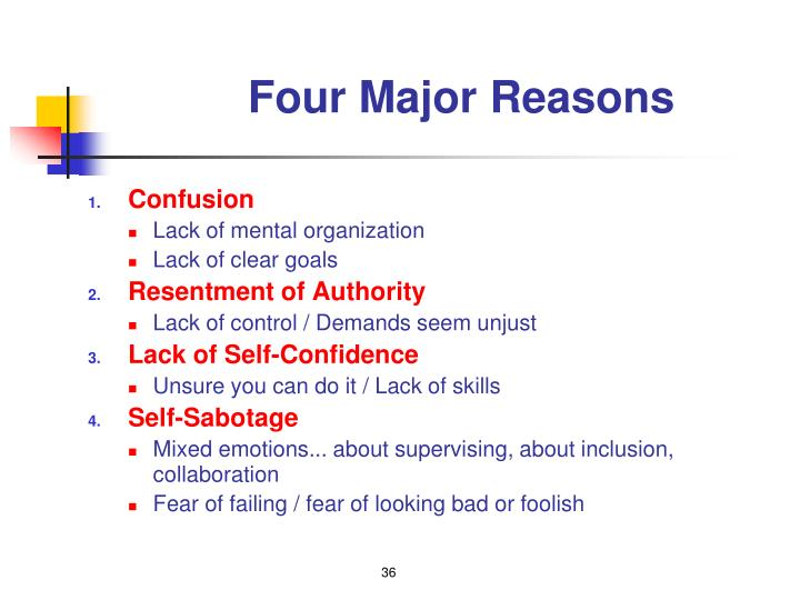 Four Major Reasons