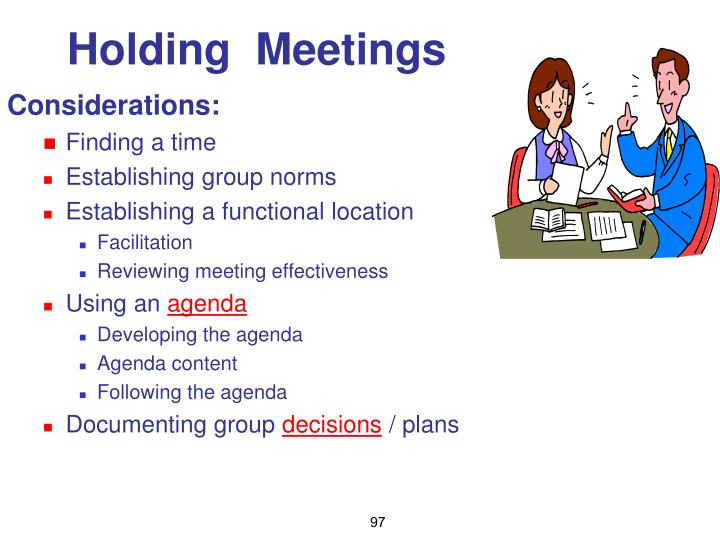Holding  Meetings