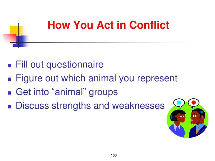 How You Act in Conflict