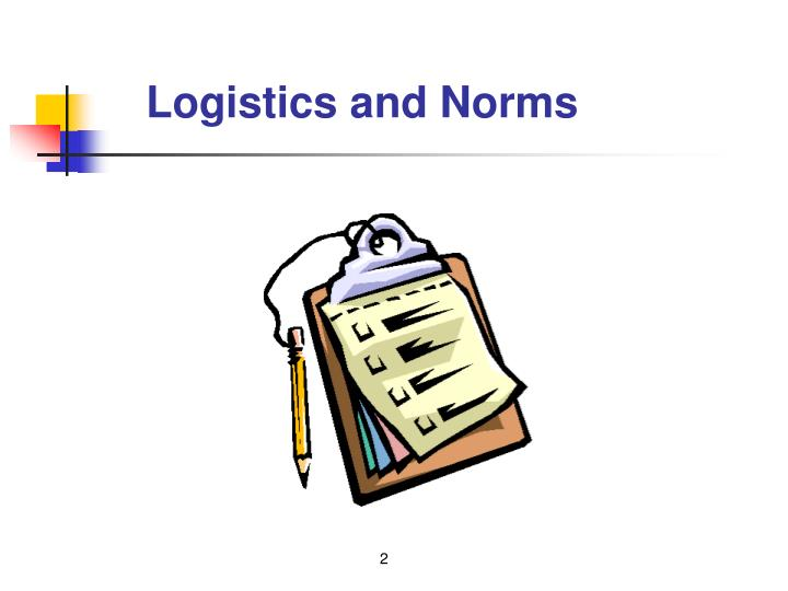 Logistics and Norms