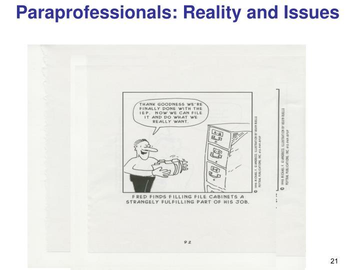 Paraprofessionals: