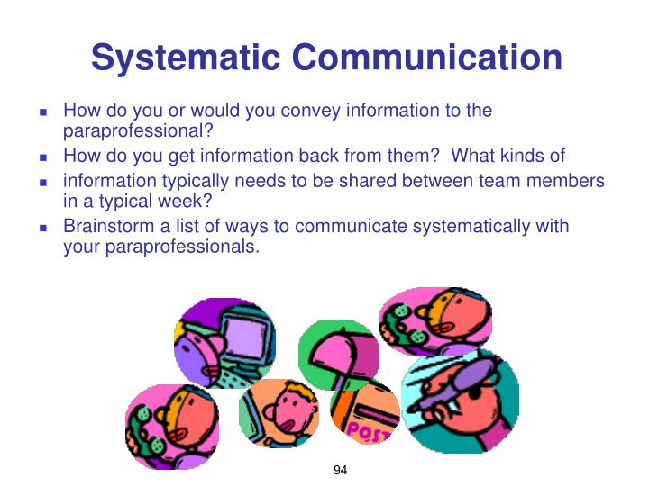 Systematic Communication