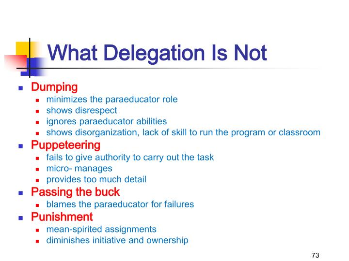 What Delegation Is Not