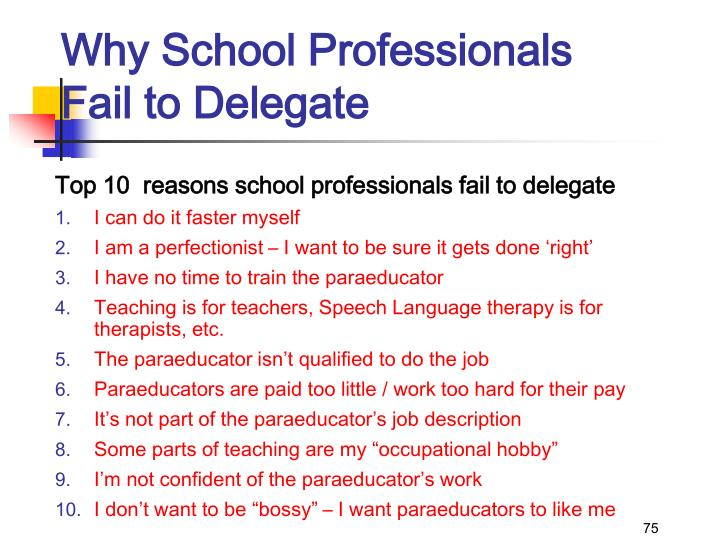 Why School Professionals Fail to Delegate