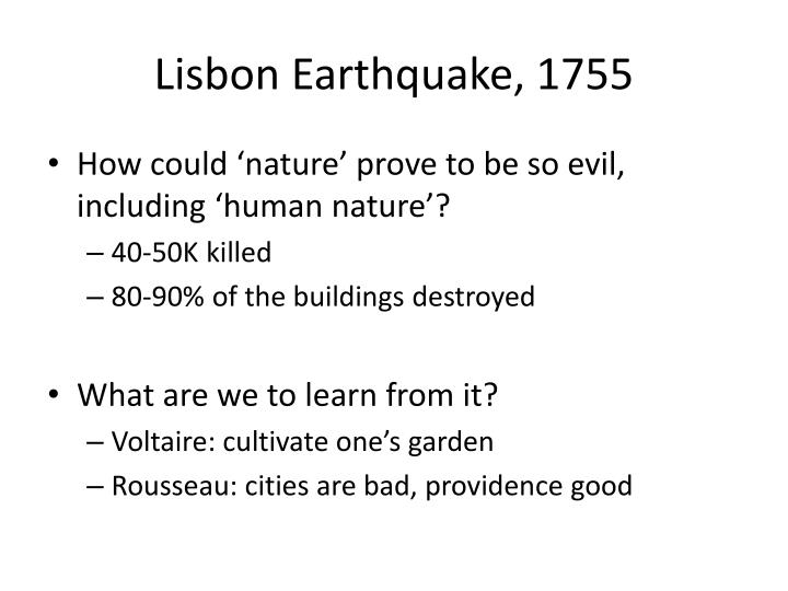 Lisbon Earthquake, 1755