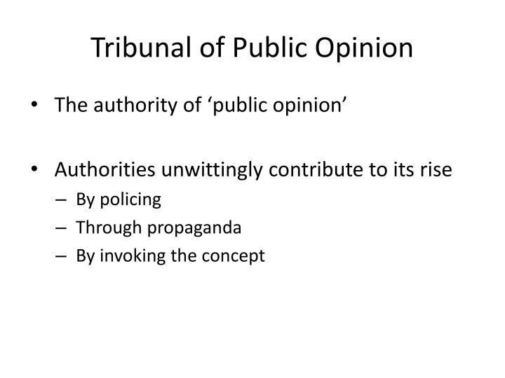 Tribunal of Public Opinion