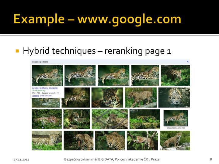 Example – www.google.com