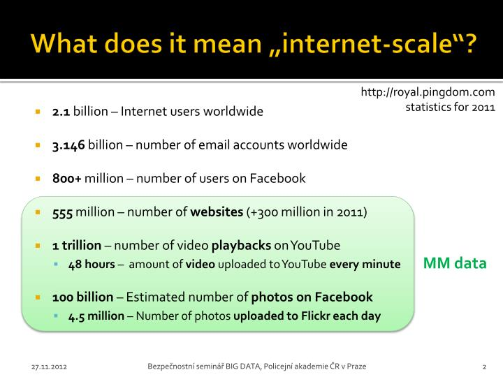 What does it mean internet scale