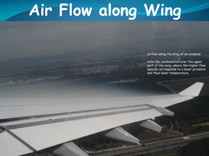 Air Flow along Wing