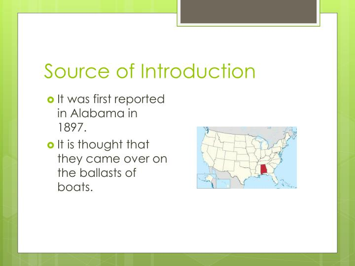 Source of Introduction
