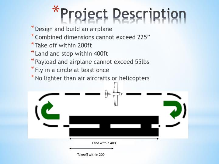 Design and build an airplane