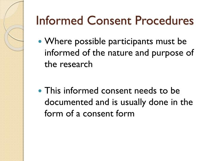 Informed Consent Procedures