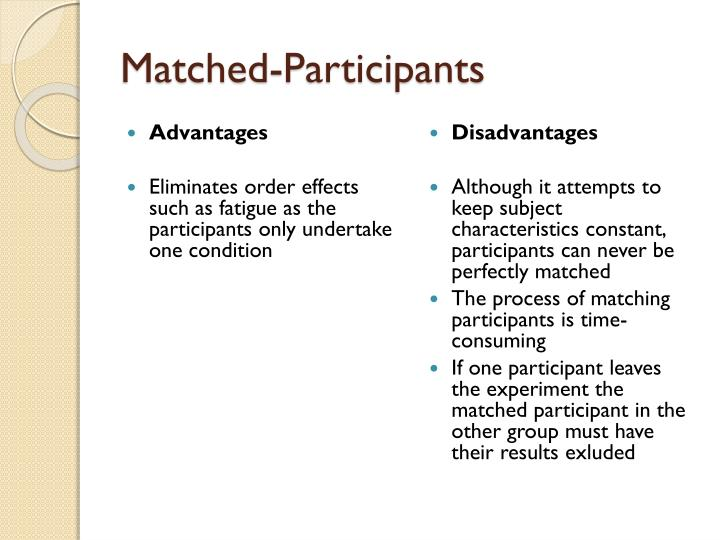 Matched-Participants