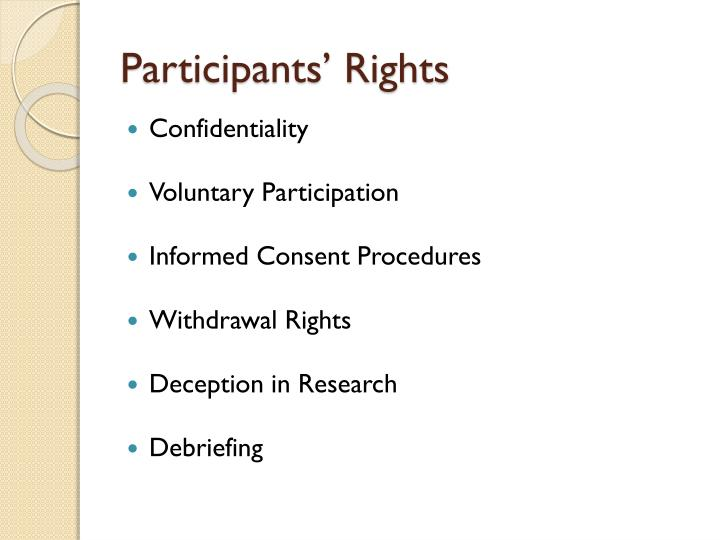 Participants' Rights
