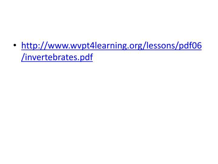 http://www.wvpt4learning.org/lessons/pdf06/invertebrates.pdf
