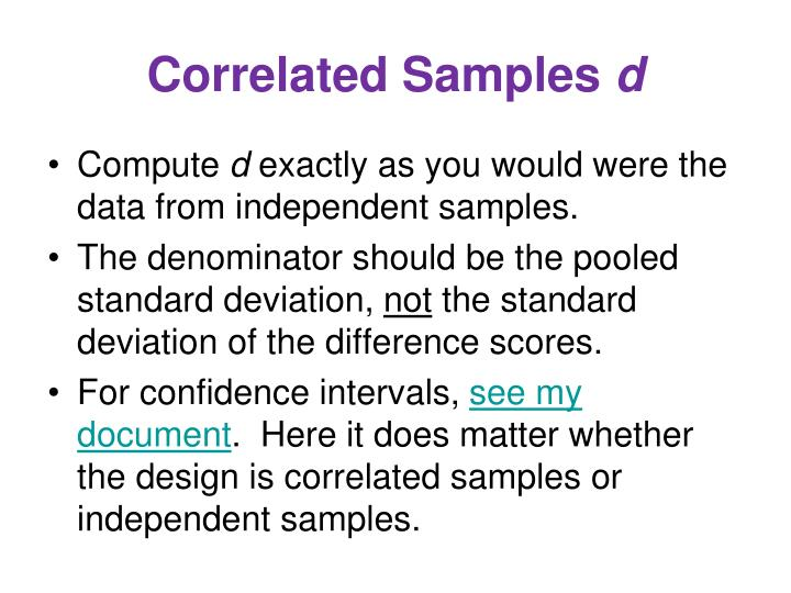 Correlated Samples