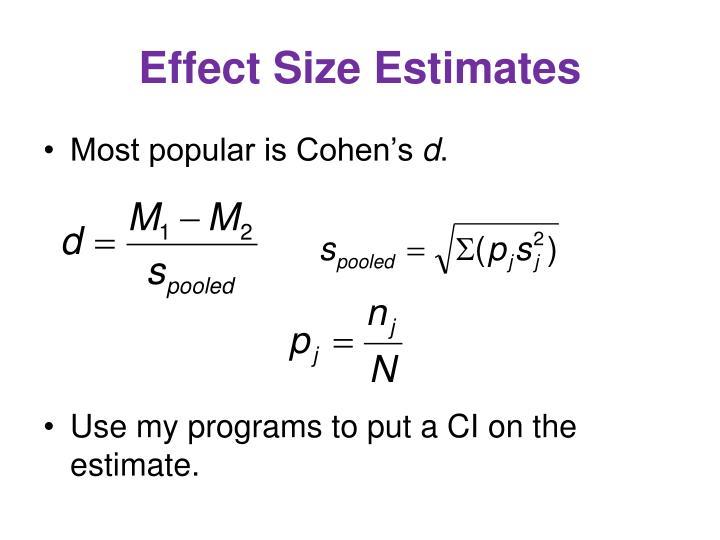Effect Size Estimates