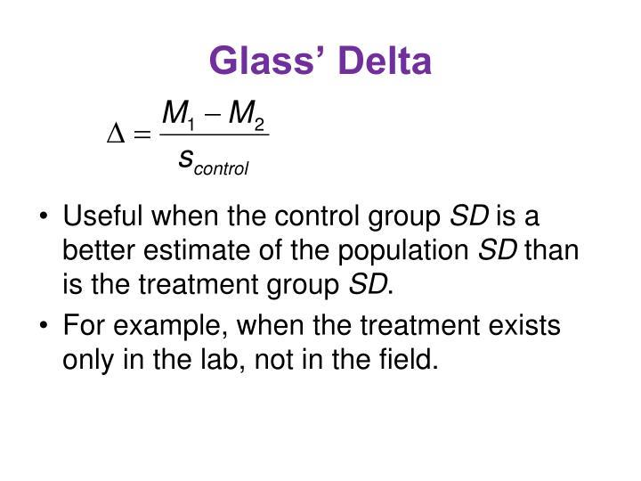 Glass' Delta