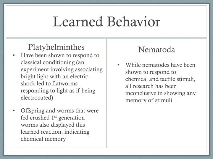 Learned Behavior