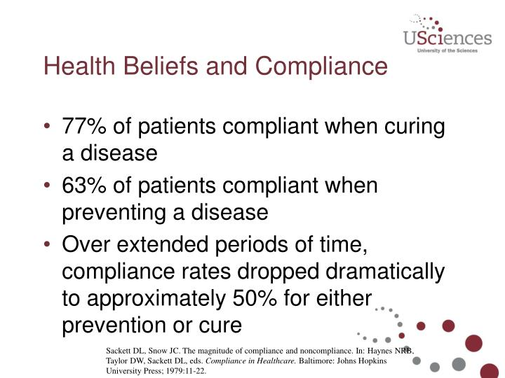Health Beliefs and Compliance