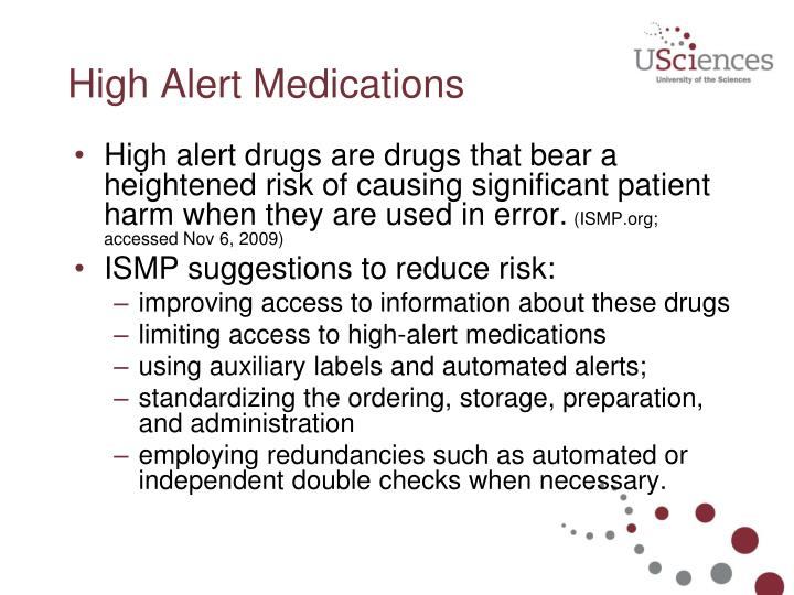 High Alert Medications
