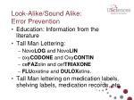 look alike sound alike error prevention