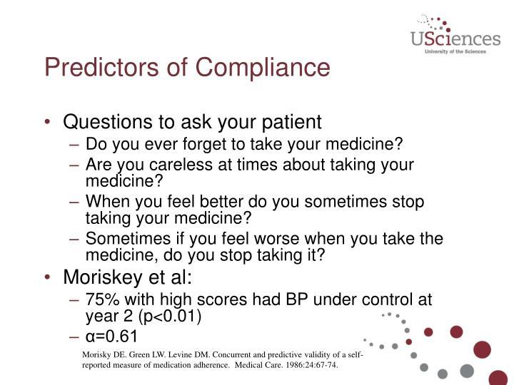 Predictors of Compliance