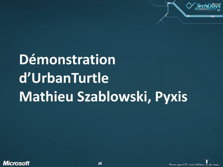 Démonstration d'UrbanTurtle