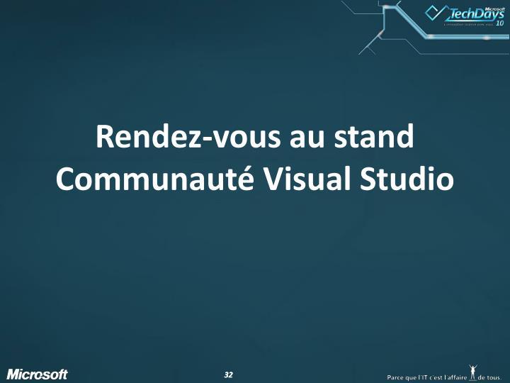 Rendez-vous au stand Communauté Visual Studio