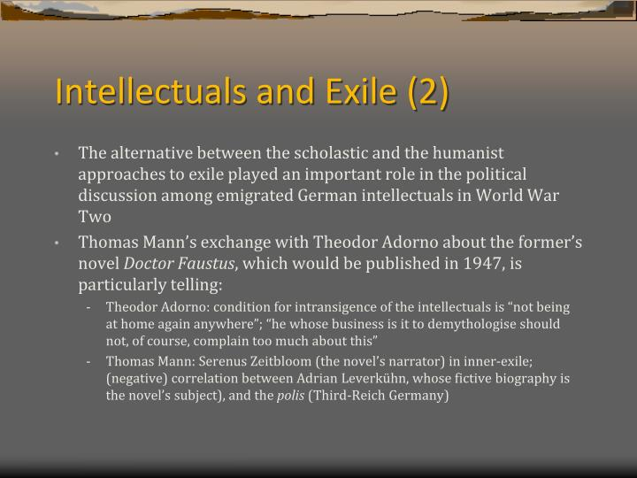 Intellectuals and Exile (2)