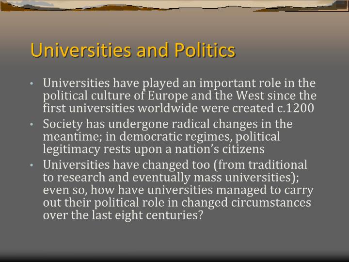 Universities and Politics