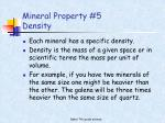 mineral property 5 density