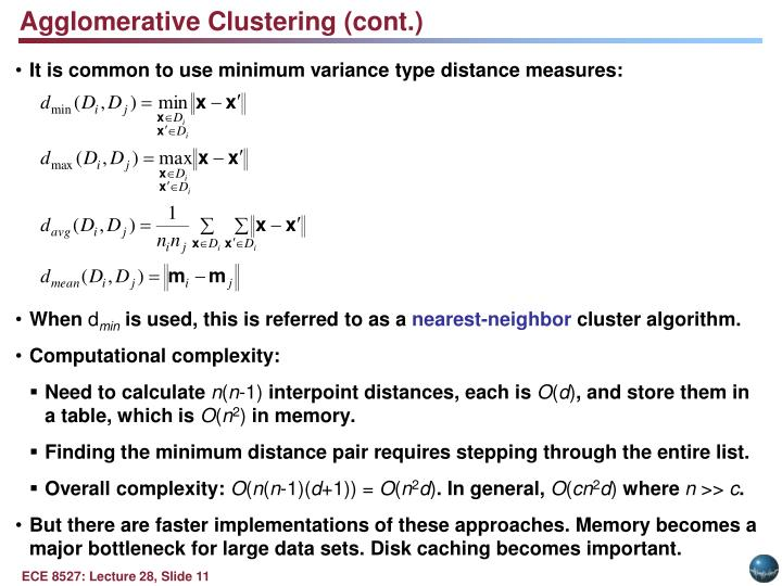 Agglomerative Clustering (cont.)
