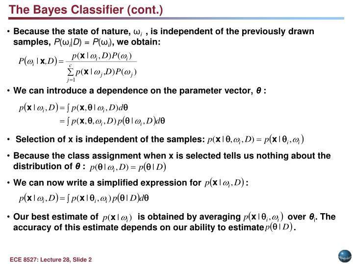 The Bayes Classifier (cont.)