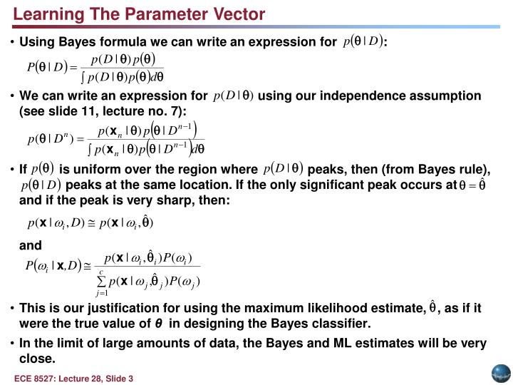 Learning The Parameter Vector