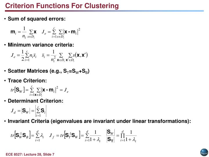 Criterion Functions For Clustering