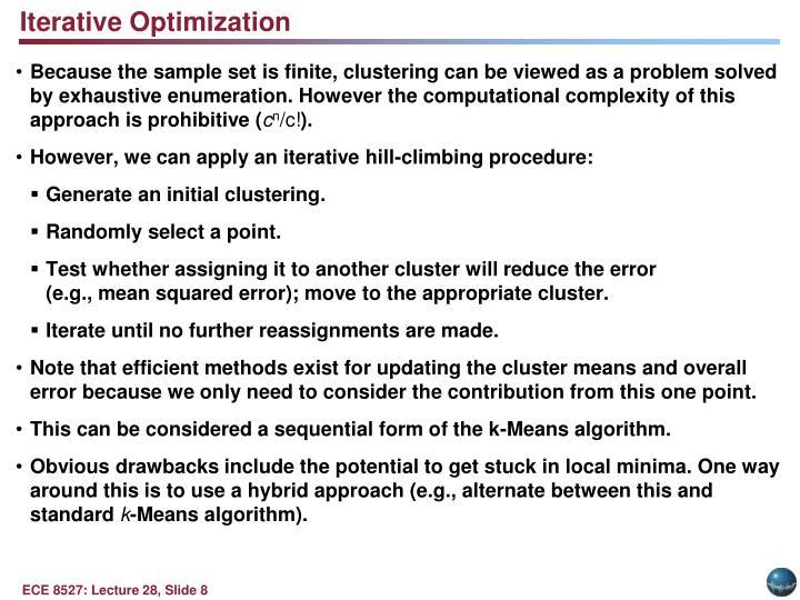 Iterative Optimization