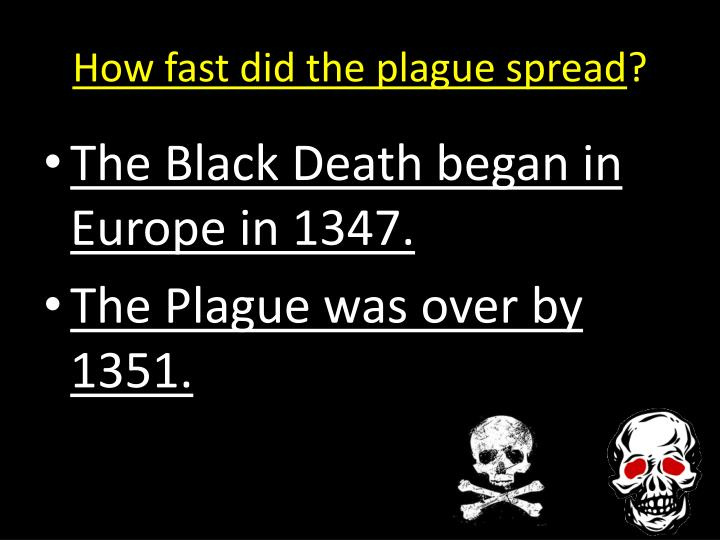 How fast did the plague spread