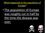 what happened to the population of europe