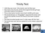 trinity test