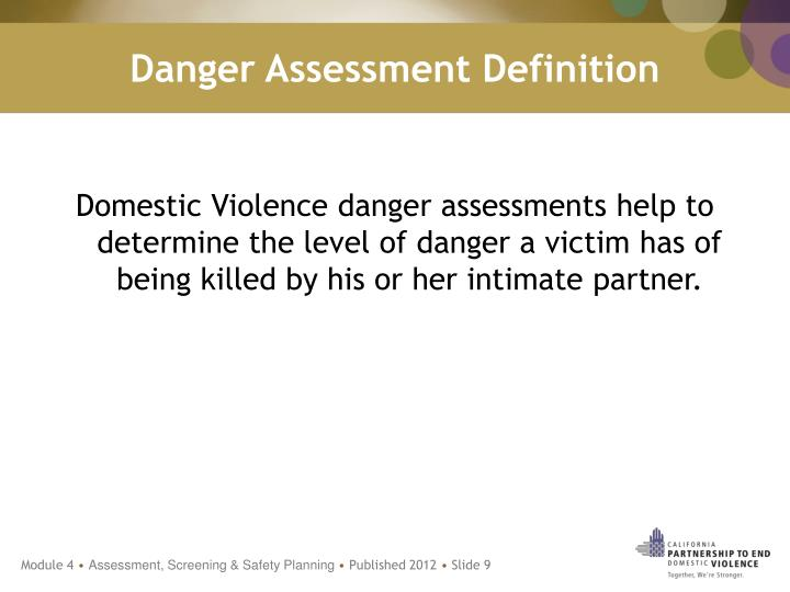 Danger Assessment Definition