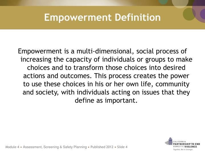 Empowerment Definition