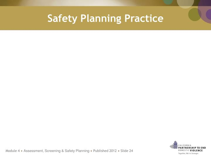 Safety Planning Practice