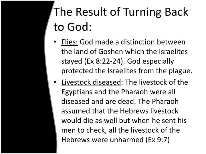 The Result of Turning Back to God: