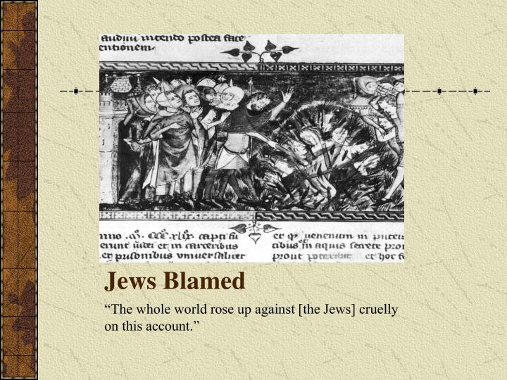 Jews Blamed
