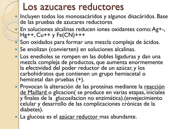 Los azucares reductores