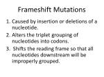 frameshift mutations1
