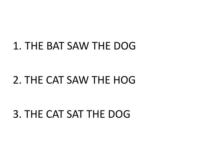 THE BAT SAW THE DOG